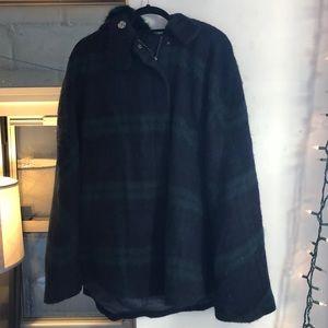 Zara plaid cape with hood